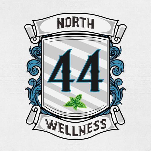 logo concept for 44 North Wellness