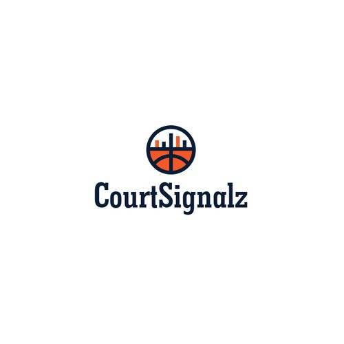 Logo concept for a basketball analytics and data visualization startup