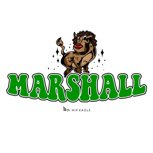 The Hip Eagle t-shirt design (Marshall Thundering Herd football fans)