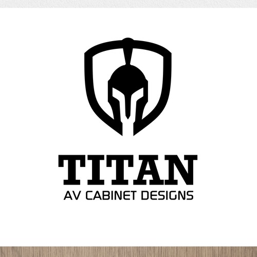 modern logo design concept for Titan AV Cabinet Designs