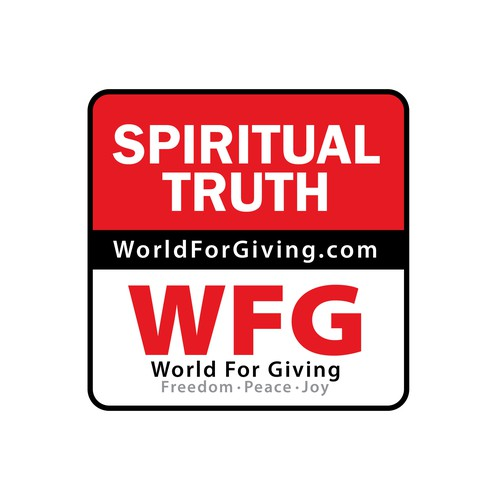 Sticker design to promote spiritual truth website.