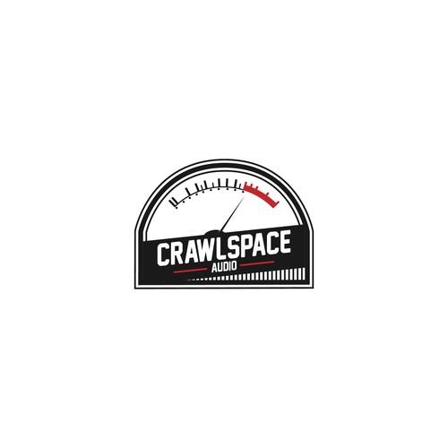 Audio Company Logo Concept for Crawlspace Audio
