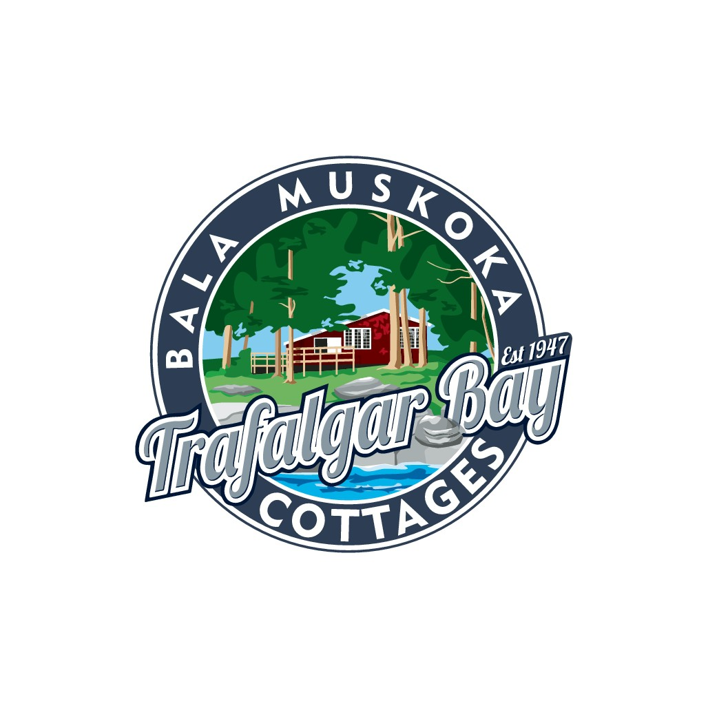 Part Traditional, Part Minimalistic Logo for Trafalgar Bay Cottages