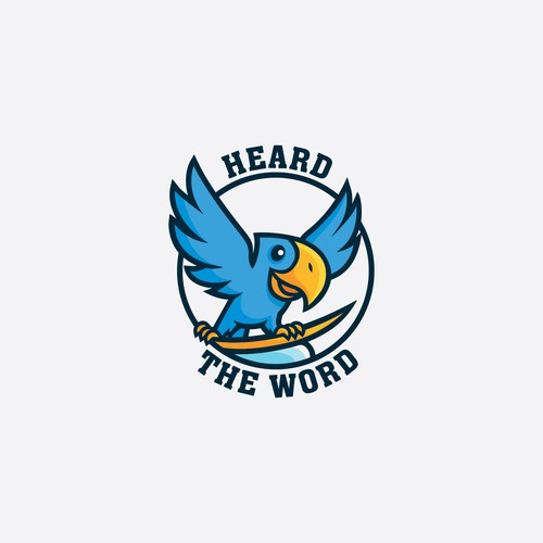 Fun logo for Heard The Word