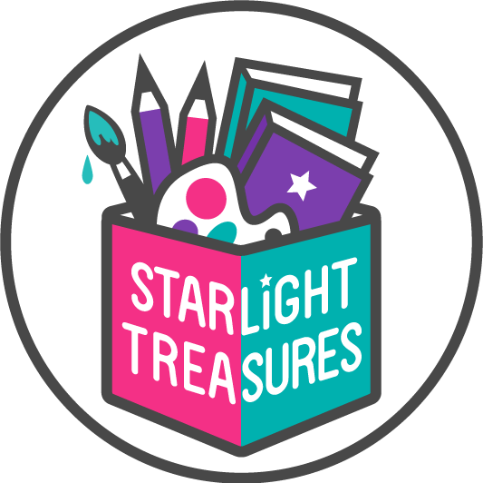 Design a colorful logo for educational store Starlight Treasures