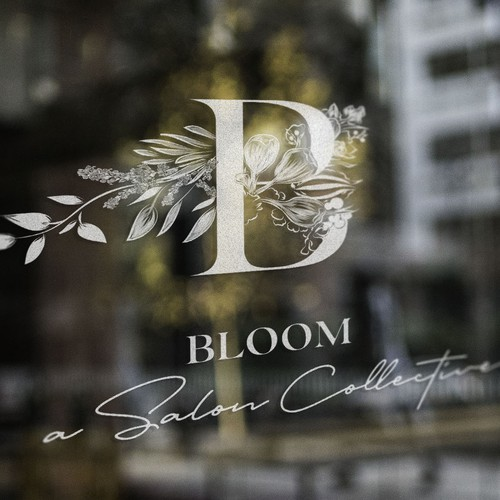 Blooming logo concept for Bloom, a Salon Collective