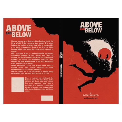 above and below cover book