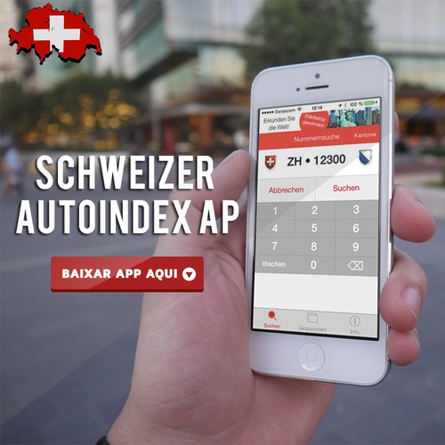 Facebook mobile ad images needed for top selling mobile app from Switzerland