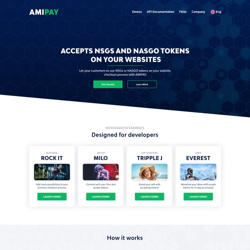Payment API Web & Demo Page Design