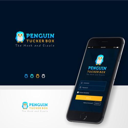 Logo and Jimdo Website Design for PENGUIN TUCKER BOX