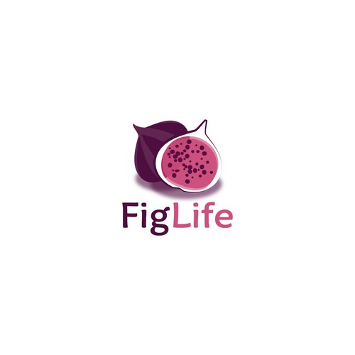 "Modern youthful logo for startup nutrition coaching biz ""FigLife"""