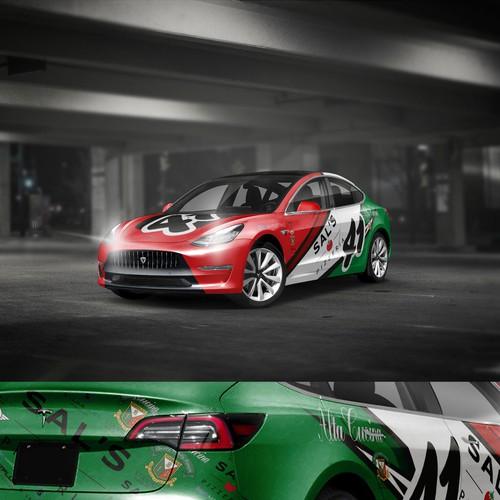 Tesla carwrap