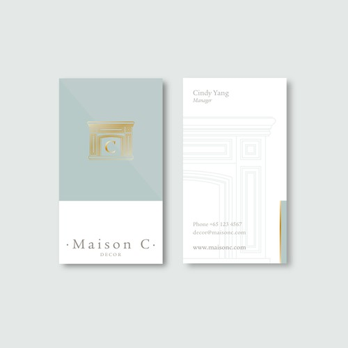 "Logo and stationery for ""Maison C""."