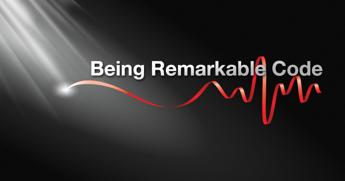 Bring 'Being Remarkable Code' into alignment with other Product Banners