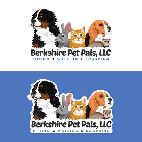 Logo / Website header for Berkshire Pet Pals, LLC
