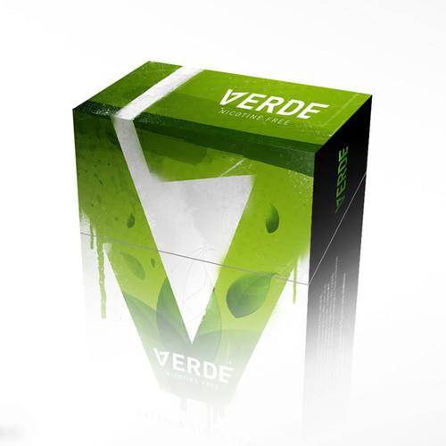 Verde Green Tea Cigarette Box Design