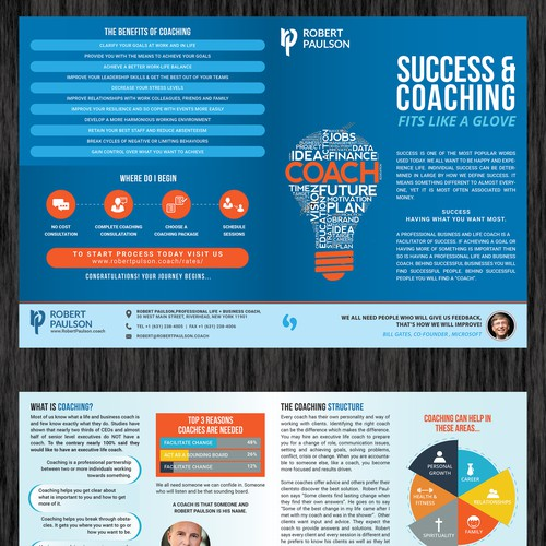 Brochure Design for Life Coach