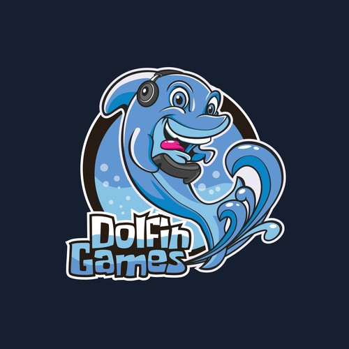 Dolphin Mascot Character