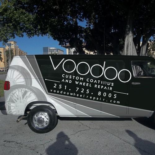 Voodoo Custom Coatings and Wheel Repair Van Wrap