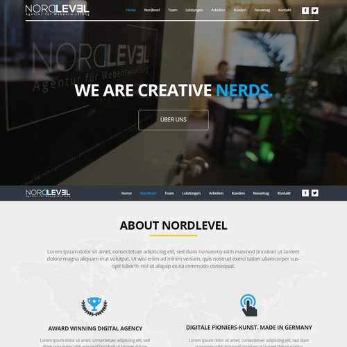 OnePager-Homepage for our Web Agency