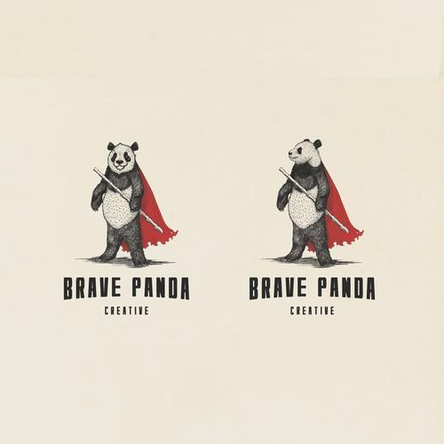 Brave Panda logo design