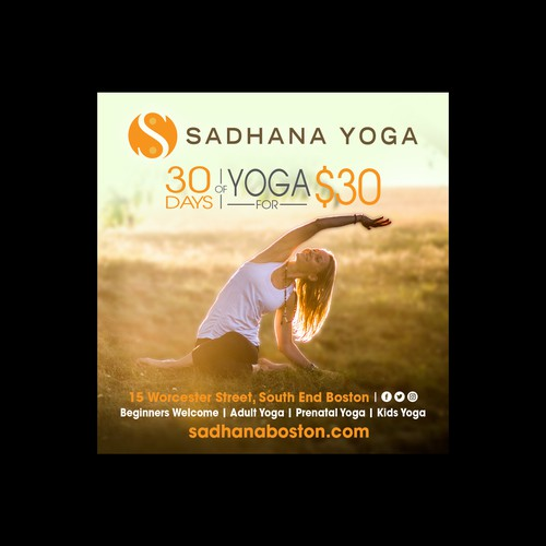 Print Ad - Sadhana Yoga