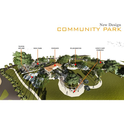 3D perspective for new Community Park