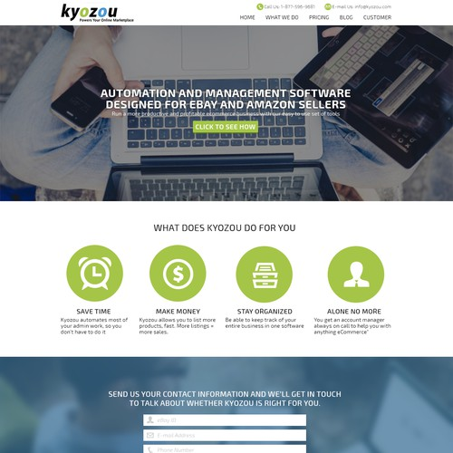 Create a new and engaging website for our software company