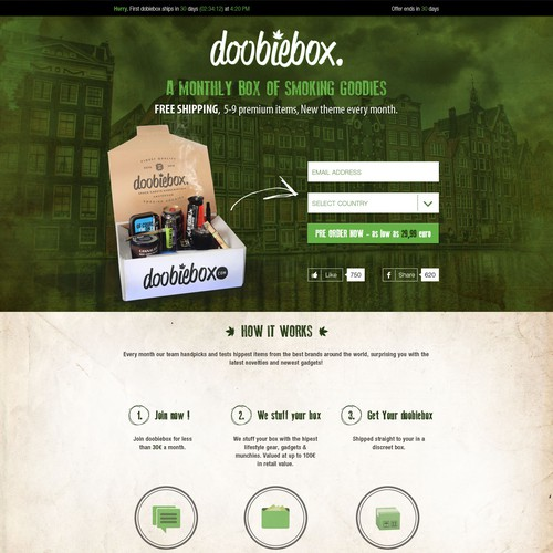 Create a catchy landing page that drives pre-orders.