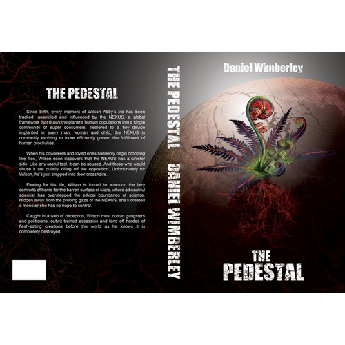 Create a creepy cover for my upcoming novel, The Pedestal.