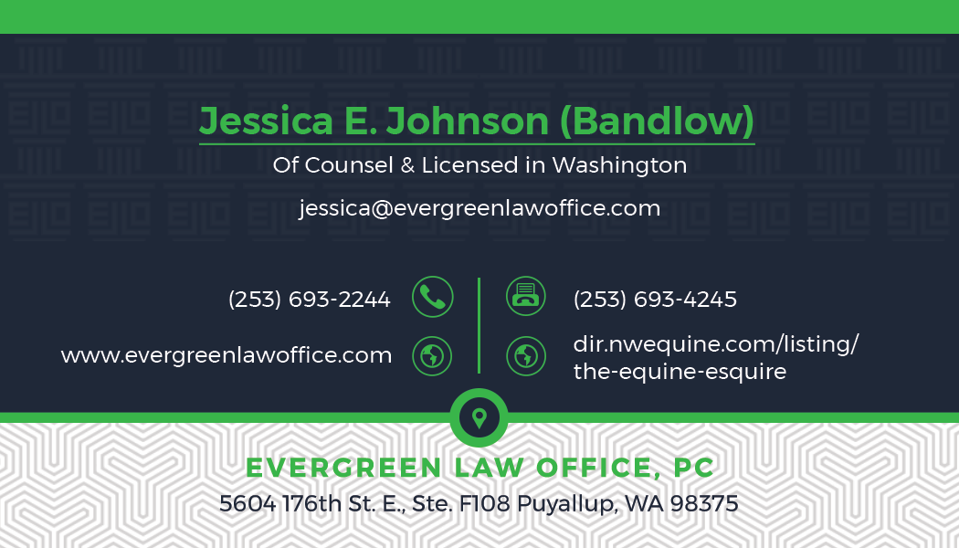 New Evergreen Law Office Employee Business Card, letterhead and ESig design