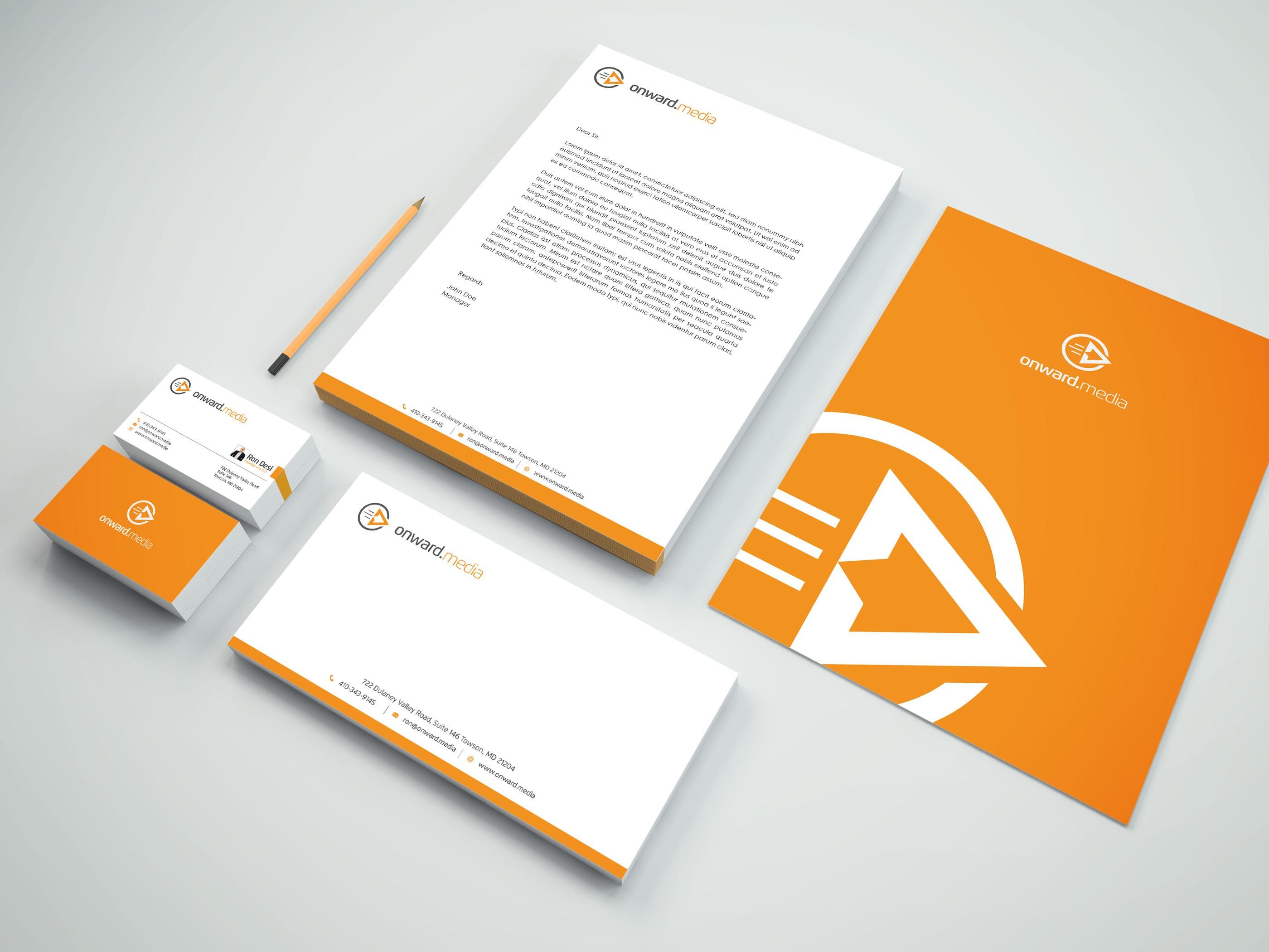 Biz Card, Brochure, Letterhead, Envelop