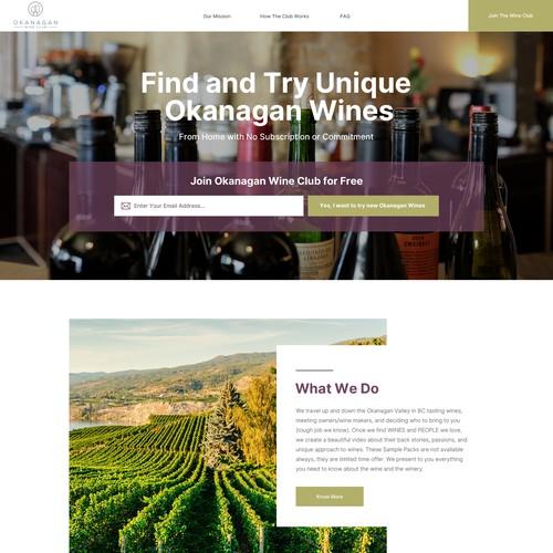 wordpress theme design for wine club