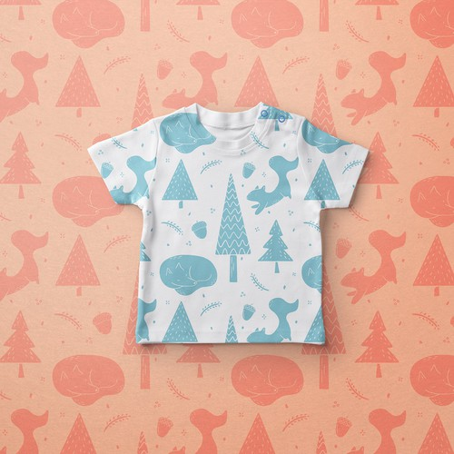 Print concept for a Baby Clothing brand