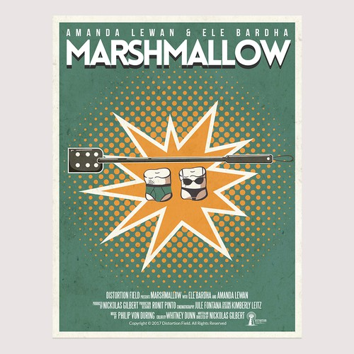 "Design a movie poster for the short film ""Marshmallow"""