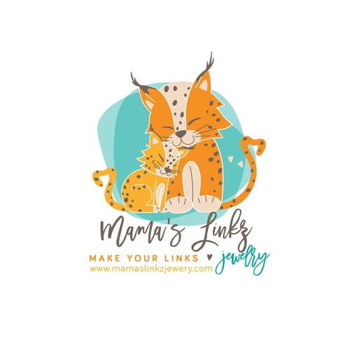 Loving mama and baby linx for jewelry maker