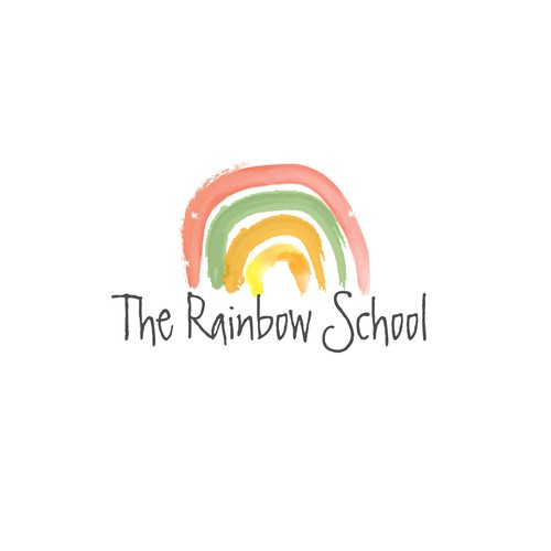 The Rainbow School logo