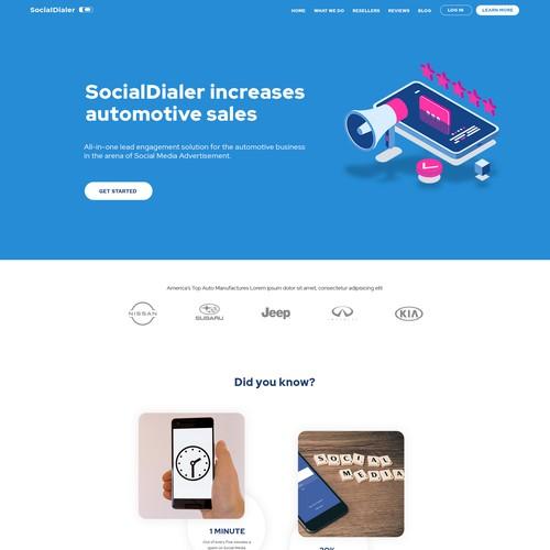 Lightweight website for social engagement App