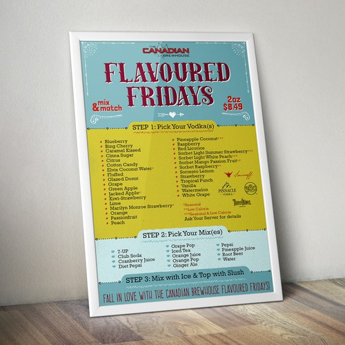 Poster design for Canadian Brewhouse