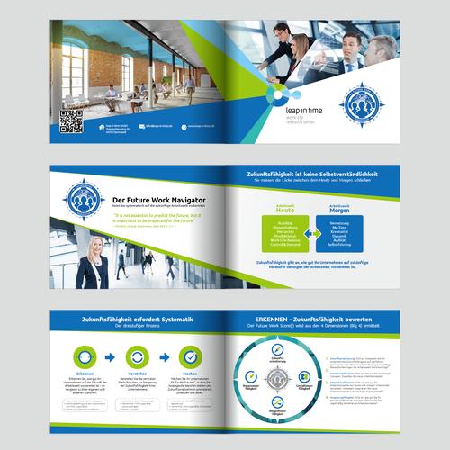 Futuristic Business Brochure for Future work Navigator