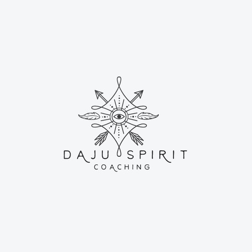 Shamanic, spiritual logo for coaching.