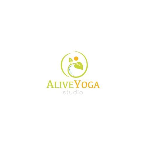 AliveYoga Logo Design