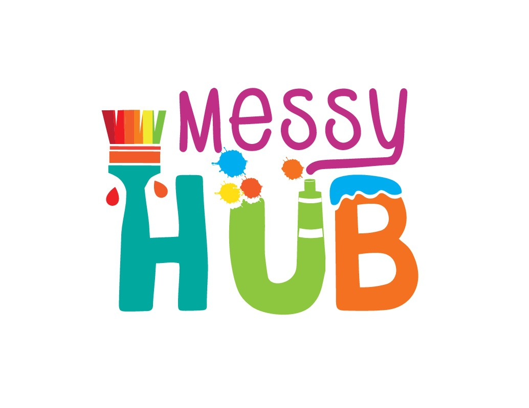 Create a fun and colourful logo for Messy Town, something both simple but messy