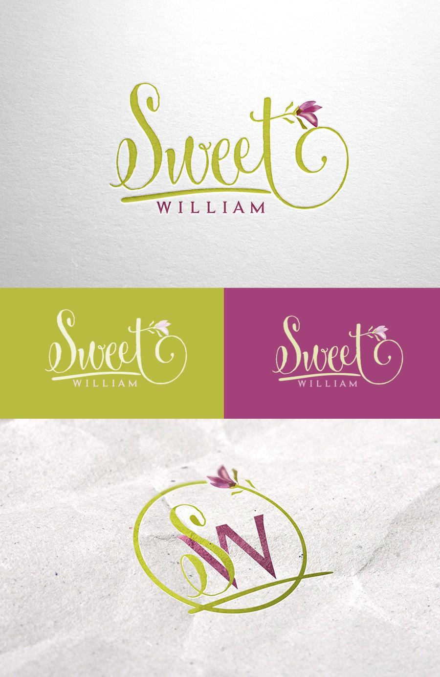Elegant logo for Sweet William, a flower bulb business