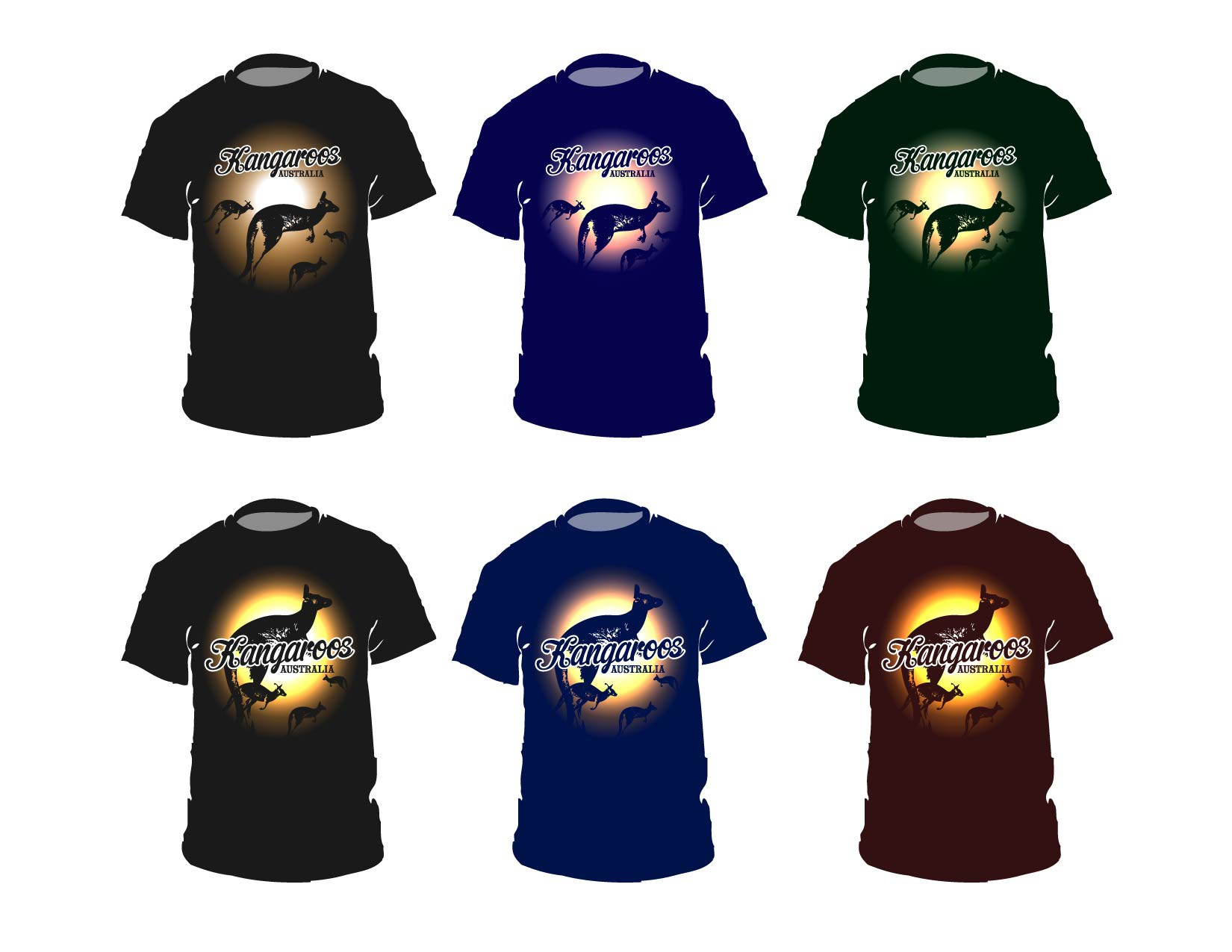 Kangaroo T-Shirt Design
