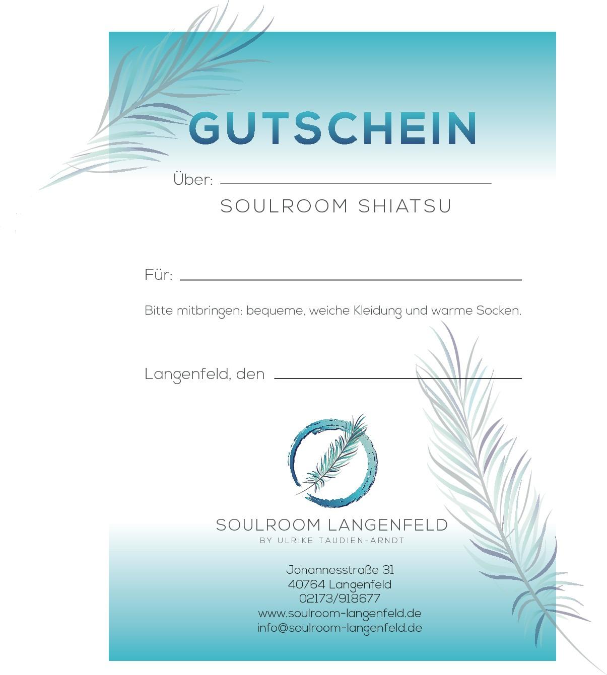 Der Soulroom-Langenfeld braucht Visitenkarten :-) mit dem von dir entworfenen Logo
