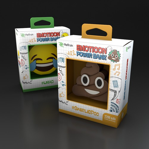 Packaging Design for Emoticon Power Bank