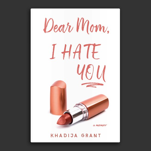 Dramatic book cover concept about a memoir aimed at young people