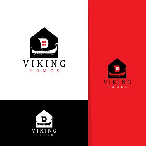 viking homes logo design
