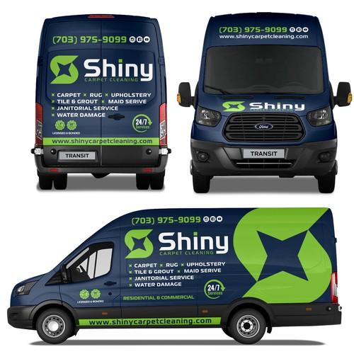 Shiny Carpet Cleaning Wrap Design